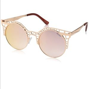Quay Australia Fleur mirrored gold sunglasses
